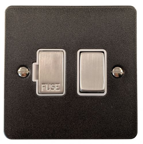 G&H FP257 Flat Plate Pewter 1 Gang Fused Spur 13A Switched